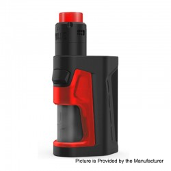 Authentic Vandy Vape Pulse Dual 220W TC VW Squonk Box Mod + Pulse V2 RDA Kit - Black Red, 5~220W, 7ml, 2 x 18650, 24mm