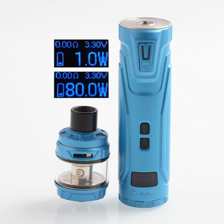 Authentic Joyetech ULTEX T80 80W VW Mod + Cubis Max Tank Kit - Sky Blue, 1~80W, 1 x 18650, 5ml, 0.25 Ohm