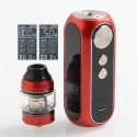 Authentic OBS Cube 80W 3000mAh VW Variable Wattage Starter Kit - Red, Zinc Alloy + Stainless Steel, 4ml, 0.2 Ohm