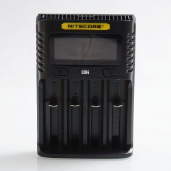 Authentic Nitecore UM4 Intelligent USB Four-Slot Charger - Black, PC