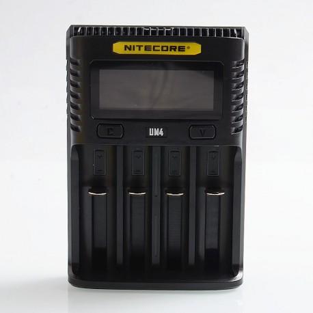 Authentic Nitecore UM4 Intelligent USB Four-Slot Charger - Black, PC