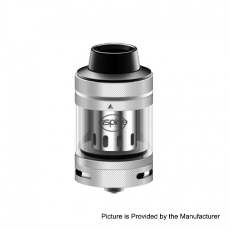 Authentic Aspire Nepho Sub Ohm Tank Clearomizer - Silver, 4ml, 27mm Diameter