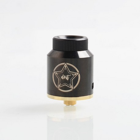 Do It Style RDA Rebuildable Dripping Atomizer w/ BF Pin - Black, Stainless Steel, 24mm Diameter