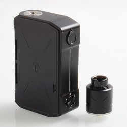 Authentic Tesla Invader IV 280W VV Variable Voltage Box Mod + RDA Kit - Black, 3~8V, 2 x 18650 / 20700 / 21700