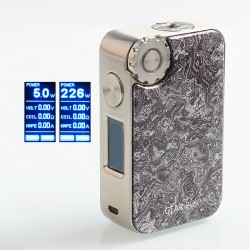 Authentic VapeMons Gearbox 222W Wireless Charging TC VW Variable Wattage Box Mod - Grey, 5~222W, 2 x 18650