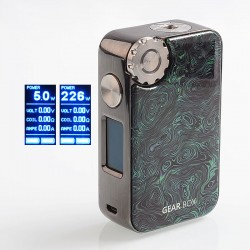 Authentic VapeMons Gearbox 222W Wireless Charging TC VW Variable Wattage Box Mod - Chameleon, 5~222W, 2 x 18650