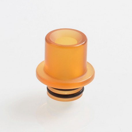 510 Replacement Drip Tip for RDA / RTA / Sub Ohm Tank Atomizer - Yellow, PEI, 15mm