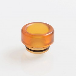 810 Replacement Drip Tip for TFV8 / TFV12 Tank / Goon / Kennedy / Reload RDA - Yellow, PEI, 12mm