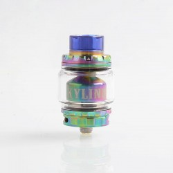 Authentic Vandy Vape Kylin V2 RTA Rebuildable Tank Atomizer - Rainbow, Stainless Steel + Pyrex Glass, 5ml, 24mm Diameter