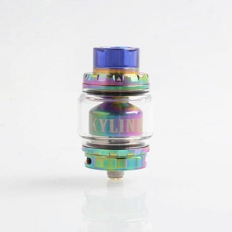 Authentic Vandy Vape Kylin V2 RTA Rebuildable Tank Atomizer - Rainbow, Stainless Steel + Pyrex Glass, 5ml, 24mm Diameter