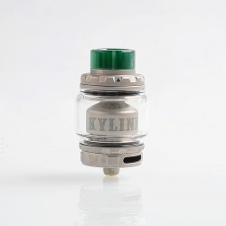 Authentic Vandy Vape Kylin V2 RTA Rebuildable Tank Atomizer - Frosted Grey, Stainless Steel + Pyrex Glass, 5ml, 24mm Diameter