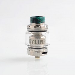 Authentic Vandy Vape Kylin V2 RTA Rebuildable Tank Atomizer - Silver, Stainless Steel + Pyrex Glass, 5ml, 24mm Diameter