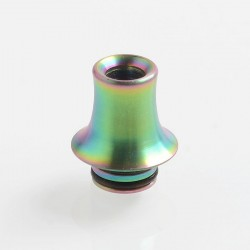 510 Replacement Drip Tip for RDA / RTA / Sub Ohm Tank Atomizer - Rainbow, Stainless Steel, 16mm