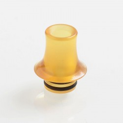 510 Replacement Drip Tip for RDA / RTA / Sub Ohm Tank Atomizer - Yellow, PEI, 16mm