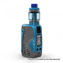 Authentic Wismec Reuleaux Tinker 300W TC VW Variable Wattage Box Mod + Column Tank Kit - Blue, 1~300W, 3 x 18650, 6.5ml