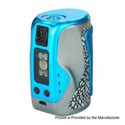 Authentic Wismec Reuleaux Tinker 300W TC VW Variable Wattage Box Mod - Blue, 1~300W, 3 x 18650