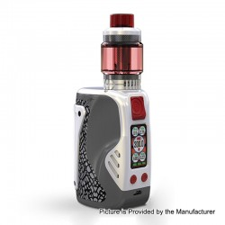 Authentic Wismec Reuleaux Tinker 300W TC VW Variable Wattage Box Mod + Column Tank Kit - White, 1~300W, 3 x 18650, 6.5ml