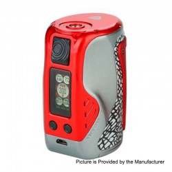 Authentic Wismec Reuleaux Tinker 300W TC VW Variable Wattage Box Mod - Red, 1~300W, 3 x 18650