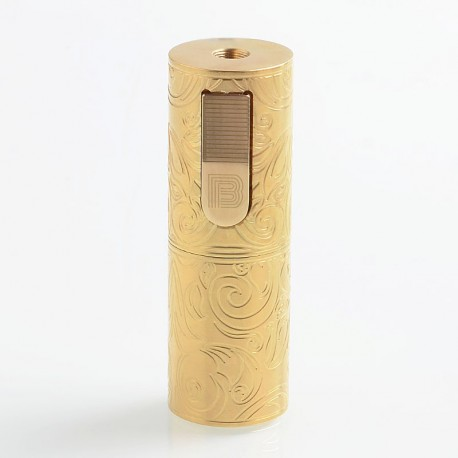 Vapeasy Mini B MiniB Style Mechanical Tube Mod Limited Edition- Brass, Brass, 1 x 18650