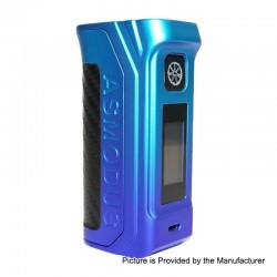 Authentic Asmodus Amighty 100W Touch Screen TC VW Variable Wattage Box Mod - Gradient Ramp, 5~100W, 1 x 18650 / 21700 / 20700