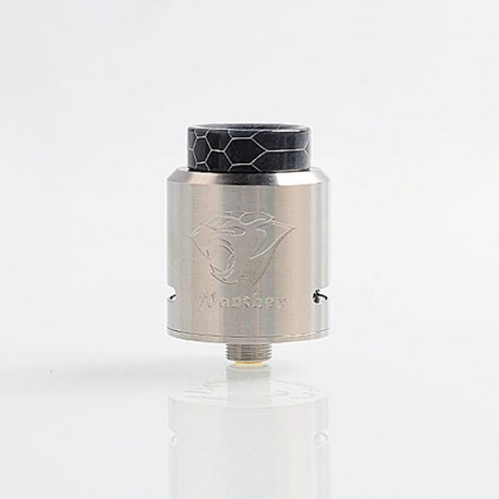 Authentic Ehpro Panther RDA Rebuildable Dripping Atomizer w/ BF Pin - Silver, Stainless Steel, 24mm Diameter