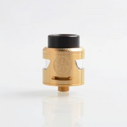 Authentic Asmodus Bunker RDA Rebuildable Dripping Atomizer w/ BF Pin - Gold, Stainless Steel, 25mm Diameter