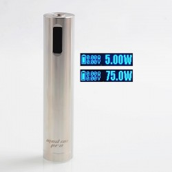 Authentic Ehpro Mod 101 Pro 75W TC VW Variable Wattage Tube Mod - Silver, Stainless Steel, 5~75W, 1 x 18650 / 20700 / 21700