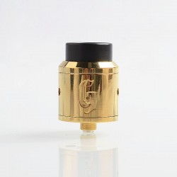 Goon 25 Style RDA Polished Version Rebuildable Dripping Atomizer w/ BF Pin- Brass, Brass, 24mm Diameter