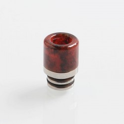 510 Replacement Drip Tip for RDA / RTA / Sub Ohm Tank Atomizer - Red, Resin + Stainless Steel, 16mm