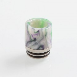 810 Replacement Drip Tip for TFV8 / TFV12 Tank / Goon / Kennedy / Reload RDA - Green, Resin + Stainless Steel, 18.6mm