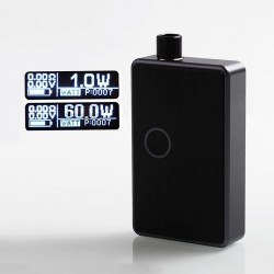 SXK BB Style 60W All-in-One Box Mod Kit - Grey + Purple, Aluminum Alloy, 1 x 18650, Evolv DNA 60