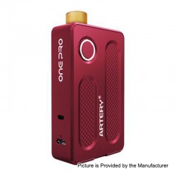 Authentic Artery PAL One Pro 1200mAh All in One Starter Kit - Red, Aluminum, 0.7 / 1.2 Ohm, 2ml