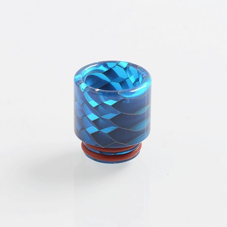 810 Replacement Drip Tip for TFV8 / TFV12 Tank / Goon / Kennedy / Reload RDA - Blue, Resin, 18mm