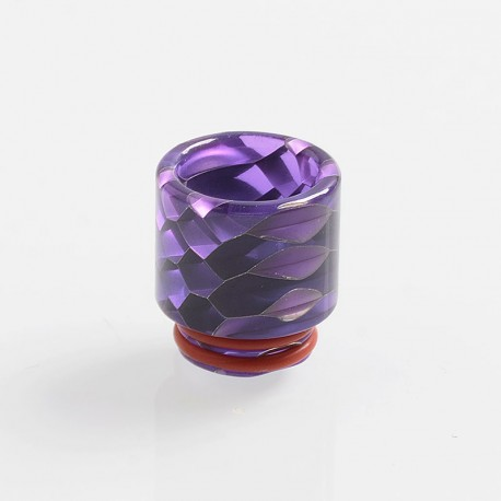 810 Replacement Drip Tip for TFV8 / TFV12 Tank / Goon / Kennedy / Reload RDA - Purple, Resin, 18mm