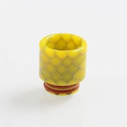 810 Replacement Drip Tip for TFV8 / TFV12 Tank / Goon / Kennedy / Reload RDA - Yellow, Resin, 18mm