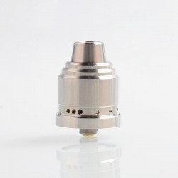 Authentic 5GVape Peace RDA Rebuildable Dripping Atomizer w/ BF Pin - Silver, 316 Stainless Steel, 22mm Diameter
