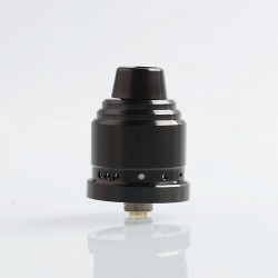 Authentic 5GVape Peace RDA Rebuildable Dripping Atomizer w/ BF Pin - Black, 316 Stainless Steel, 22mm Diameter