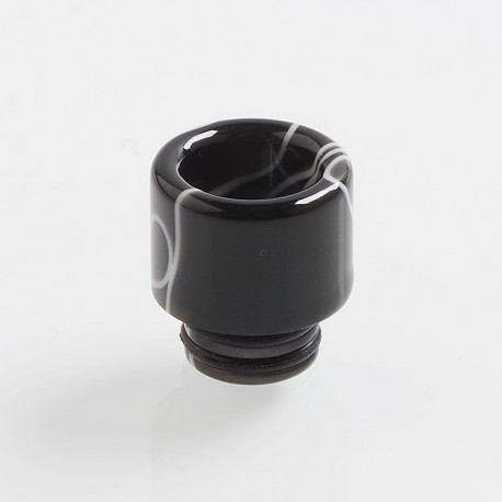 Authentic Vapjoy 510 Replacement MTL Drip Tip for RDA / RTA / Sub Ohm Tank Atomizer - Black, Resin, 14mm