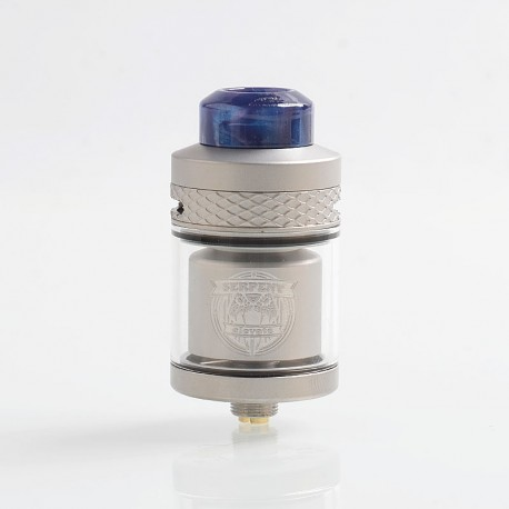 Authentic Wotofo Serpent Elevate RTA Rebuildable Tank Atomizer - Silver, Stainless Steel, 3.5ml, 24mm Diameter