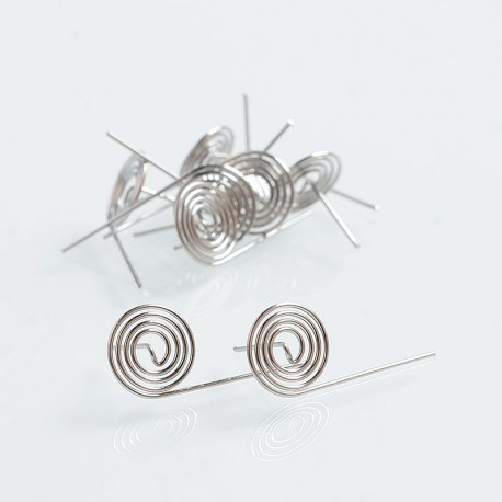 Authentic Damn Vape Lolly Coil Kanthal A1 Pre-built Wire for Dread RDA - 24GA, 0.64 Ohm, 4 Wraps (10 PCS)