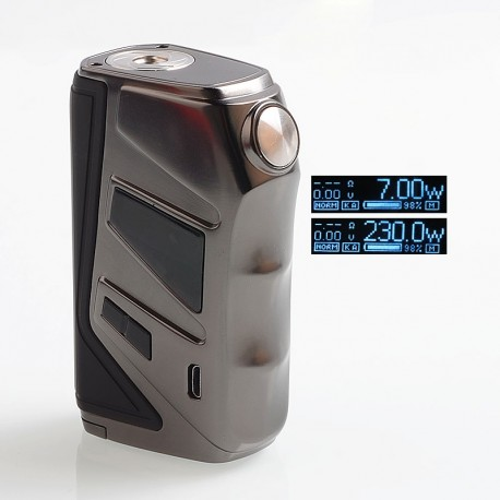 Authentic Nikola Wolverine 230W TC VW Variable Wattage Box Mod - Gun Metal, Zinc Zlloy + ABS, 7~230W, 2 x 18650