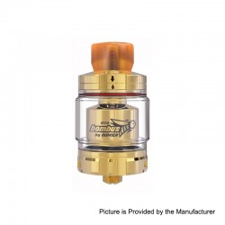 Authentic Oumier Bombus RTA Rebuildable Tank Atomizer - Gold, Stainless Steel, 2ml, 24.5mm Diameter