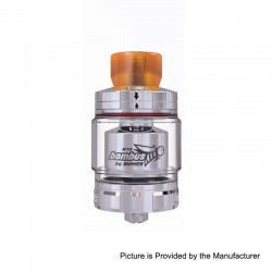 Authentic Oumier Bombus RTA Rebuildable Tank Atomizer - Silver, Stainless Steel, 2ml, 24.5mm Diameter