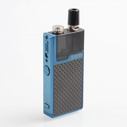Authentic Lost Vape Orion DNA GO 40W 950mAh All-in-one Starter Kit - Blue Textured Carbon Fiber, 2ml, 0.25 Ohm / 0.5 Ohm