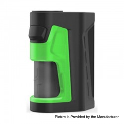 Authentic Vandy Vape Pulse Dual 220W TC VW Squonk Box Mod - Black Green, 5~220W, 7ml, 2 x 18650