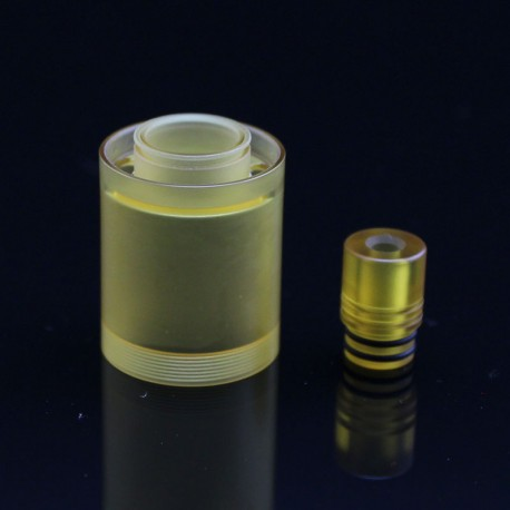 SXK Replacement 510 Drip Tip + Tank Tube for Doggystyle V2 2K18 Style RTA - Yellow, PEI, 3.5ml