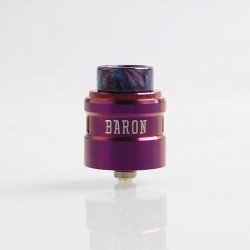 Authentic GeekVape Baron RDA Rebuildable Dripping Atomizer w/ BF Pin - Violet, Stainless Steel, 24mm Diameter