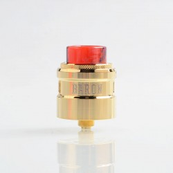 Authentic GeekVape Baron RDA Rebuildable Dripping Atomizer w/ BF Pin - Gold, Stainless Steel, 24mm Diameter