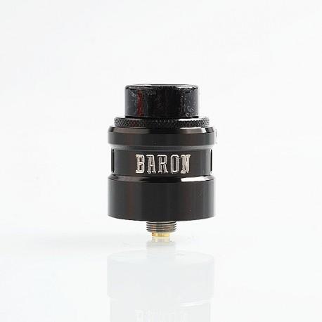 Authentic GeekVape Baron RDA Rebuildable Dripping Atomizer w/ BF Pin - Gun Metal, Stainless Steel, 24mm Diameter
