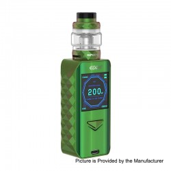 Authentic Digiflavor Edge 200W Wireless Charging TC VW Box Mod + Specter Tank Kit - Green, 5~200W, 2 x 18650, 5.5ml